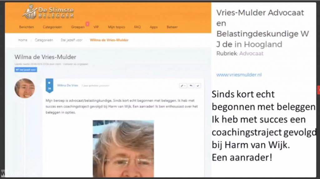 Review trading navigator Harm van Wijk