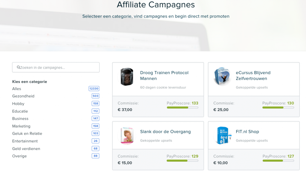 Paypro affiliate campagnes